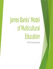 wrap up activity James Banks' Model of Multicultural Education.pptx