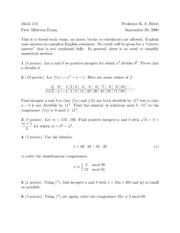 Math 115 - Fall 2000 - Ribet - Midterm 1