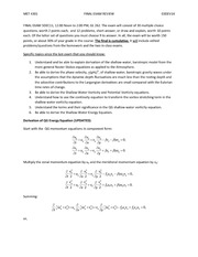 Final Exam Review and Study Guide on Dynamics 1
