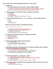 Key - Practice Test - RedOx and Electrochemistry.doc