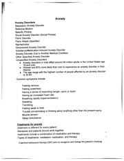 Anxiety disorder essay