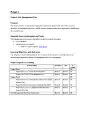 is3110 project part 1 draft risk management plan