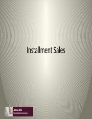 Class 3 Installment Sales