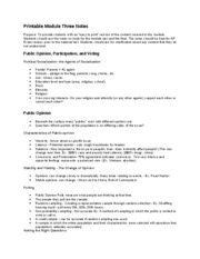 Module Three Notes