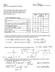 Exam 1 Chem 211 Spring 2014 KEY