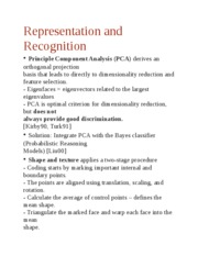 Representation and Recognitio2