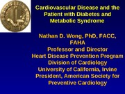 Metabolic Syndrome Diabetes and CVD CCL 052110 FINAL