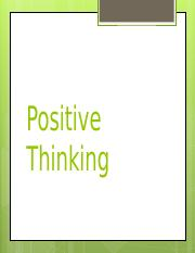 Lecture 2 Positive thinking.ppt