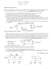ECE166 Midterm Solutions 2009