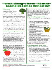 Eating Disorders Information Sheet - 07 - Clean Eating.pdf