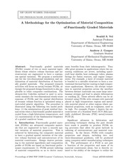 A Methodology for the Optimization of Material Composition