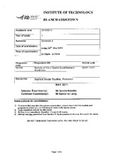 BN908 Yr1 ASW1 H1017 Sem 2 Applied Social Studies Provision May 2011