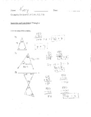 triangle bisectors notes
