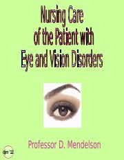 Eye & Vision Disorders - prof m.ppt