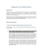 Assignment 1 case Eastern Gear.docx