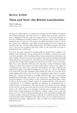 Then and Now- writing about the constitution Nevil Johnson