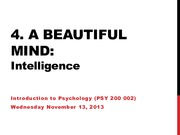 Lecture 20 - Intelligence Nov.12.13 (online)