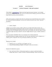 law of contract - lecture 4 - 10.10.13.docx