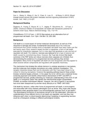 CELLBIO 201 Spring 2014 Section 10 Discussion Guide