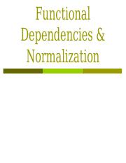 functional dependency and normalization.ppt