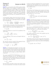 PHYSICS 21 Fall 2014 Homework 25 Solutions