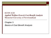 Basics of Cost Benefit Analysis