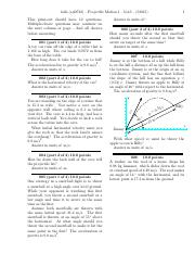 Projectile Motion 1-problems