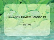Review Session 1