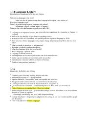 CH ANTH 1004 Notes 1 doc