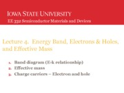 Lecture4 electron and hole