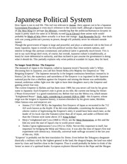 Japanese Political System
