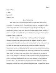 Essay Two Draft One