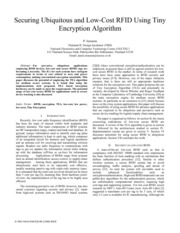 Securing Ubiquitous and Low-Cost RFID Using Tiny Encryption Algorithm