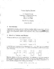 Linear Algebra Review