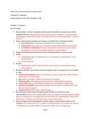 American Government Unit II - Study Guide (2).docx