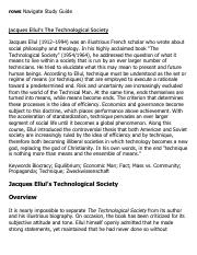 Jacques Ellul's The Technological Society Research Paper Starter - eNotes.pdf