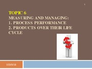 Topic 6 - Managing Process and Product (incomplete)
