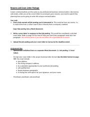 Cover Letter Assignment - Summer session.docx