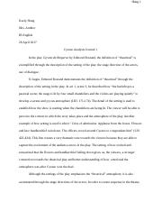 Cyrano Analysis Journal 1