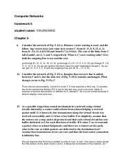 Homework   Solution        CS     Computer Networks Fonseca