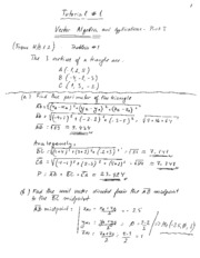 Tutorial 01 - Vector Algebra Notes