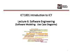 ICT1001 - T1-16 - Lecture 6 - Short Version - Software Engineering.pdf