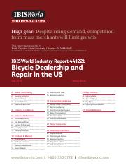 44122B Bicycle Dealership and Repair in the US Industry Report