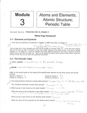 Atoms and different elements