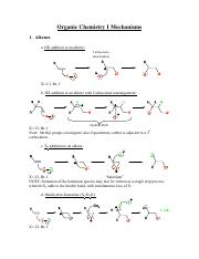 Organic I Mechanisms