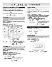 MATH 12 Probability Worksheet 2 Solutions