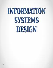 Information systems design.ppt
