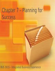 Chapter 7 - Planning for Success.pptx