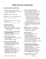 Exam 2 Review Spring 2014