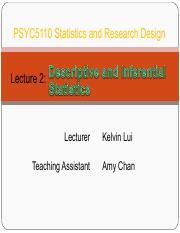 L02_Descriptive and Inferential Statistics